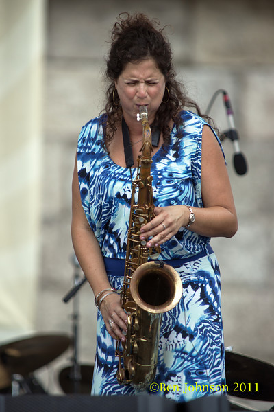 Anat Cohen photo - The 2012 Newport Jazz Festival, August 3-7, 2012 at The Tennis Hall of Fame and Fort Adams State Park in Newport Rhode Island.