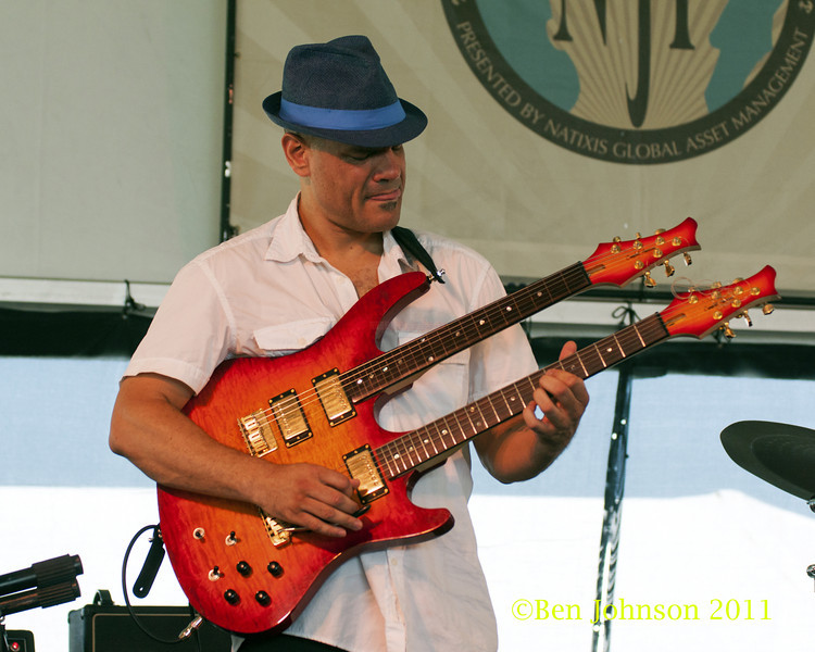 Dave Fiuczynski  photo - The 2012 Newport Jazz Festival, August 3-7, 2012 at The Tennis Hall of Fame and Fort Adams State Park in Newport Rhode Island.
