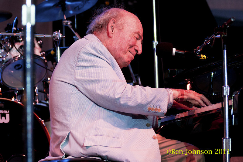 George Wein  photo - The 2012 Newport Jazz Festival, August 3-7, 2012 at The Tennis Hall of Fame and Fort Adams State Park in Newport Rhode Island.