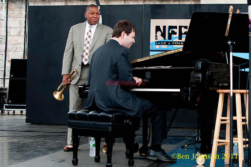Wynton Marsalis and Dan Nimmer performing at  the 2011 Newport Jazz Festival, August 6, 2011