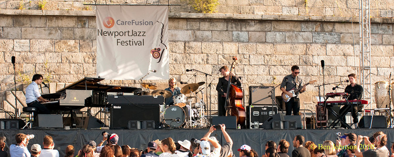 Jamie Cullum - performing at The 2010 Carefusion Jazz Festival in Newport, Rhode Island at Fort Adams State park. The 56th anniversary of the Jazz Festival produced by Founder George Wein