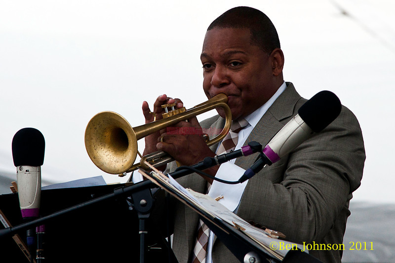 Wynton Marsalis performing at  the 2011 Newport Jazz Festival, August 6, 2011