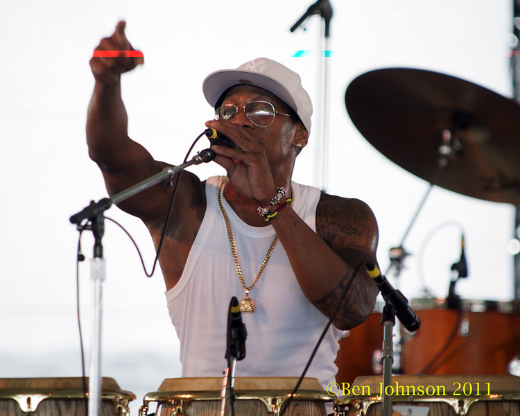 Pedrito Martinez photo - The 2012 Newport Jazz Festival, August 3-7, 2012 at The Tennis Hall of Fame and Fort Adams State Park in Newport Rhode Island.
