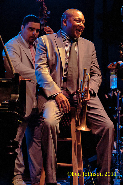 Wynton Marsalis performs at The Tennis Hall of Fame on the first night of the 2011 Newport Jazz Festival, August 5, 2011
