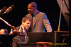 Wynton Marsalis and Dan Nimmer perform at The Tennis Hall of Fame on the first night of the 2011 Newport Jazz Festival, August 5, 2011