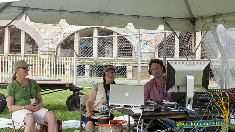 WBGO Staff at The 2012 Newport Jazz Festival, August 3-7, 2012 at The Tennis Hall of Fame and Fort Adams State Park in Newport Rhode Island.