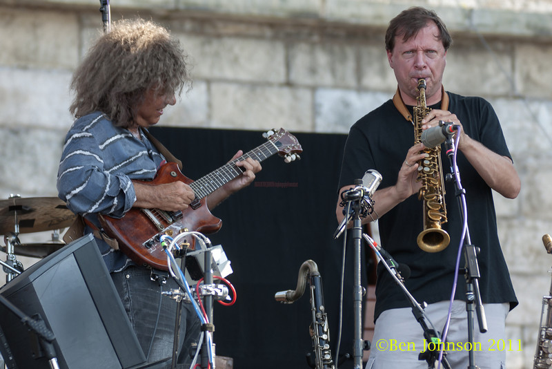 Pat Metheny and Chris Potter photo - The Tennis Hall of Fame and Fort Adams State Park in Newport Rhode Island.