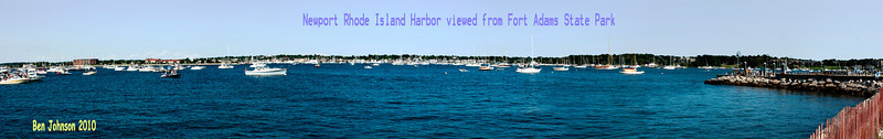 Newport Rhode Island Harbor viewed from Fort Adams State Park during the 2010 Carefusion Newport Jazz Festival August 8, 2010