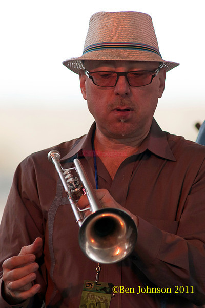 Brian Lynch performing at  the 2011 Newport Jazz Festival, August 6, 2011