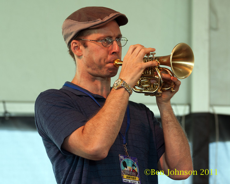 George Colligan  photo - The 2012 Newport Jazz Festival, August 3-7, 2012 at The Tennis Hall of Fame and Fort Adams State Park in Newport Rhode Island.