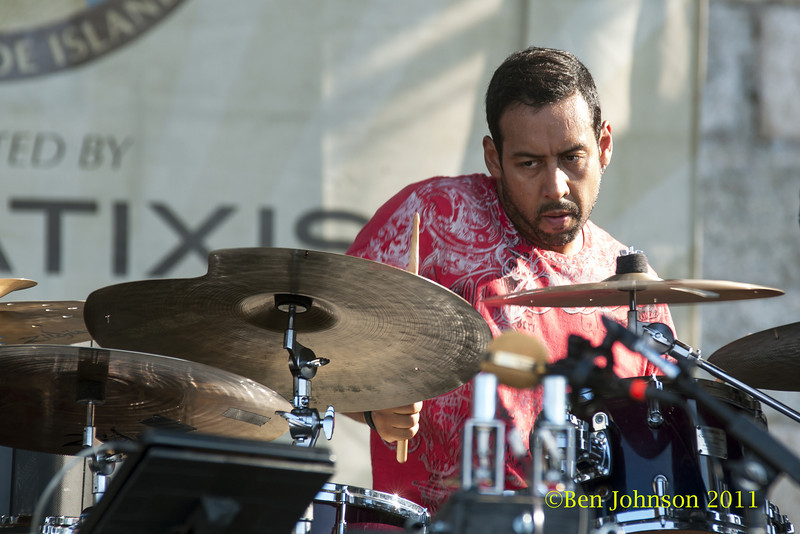 Antonio Sanchez photo - The 2012 Newport Jazz Festival, August 3-7, 2012 at The Tennis Hall of Fame and Fort Adams State Park in Newport Rhode Island.