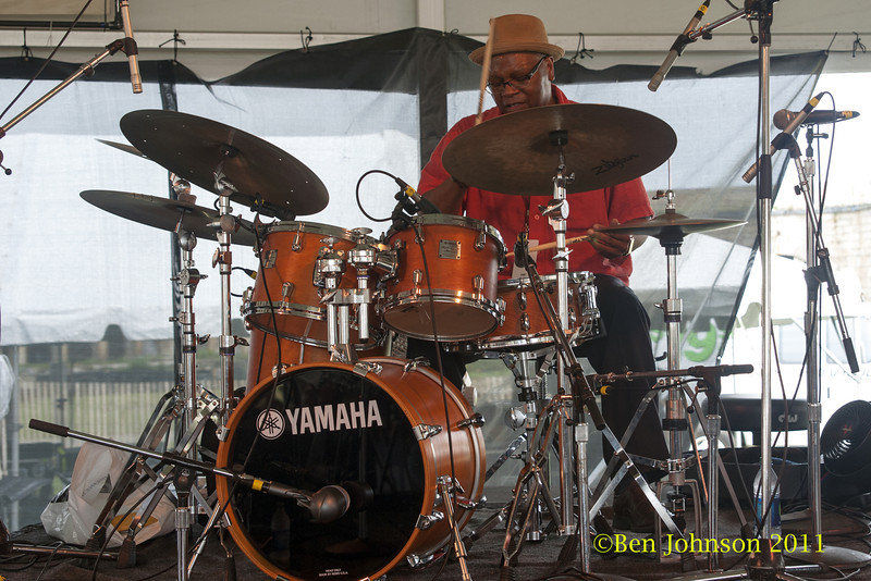 Lewis Nash photo - The 2012 Newport Jazz Festival, August 3-7, 2012 at The Tennis Hall of Fame and Fort Adams State Park in Newport Rhode Island.