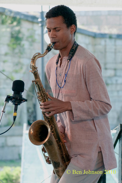 Mark Turner photo - performing at The 2010 Carefusion Jazz Festival in Newport, Rhode Island at Fort Adams State park. The 56th anniversary of the Jazz Festival produced by Founder George Wein