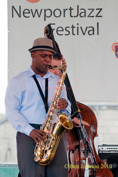 J.D. Allen photo - performing at The 2010 Carefusion Jazz Festival in Newport, Rhode Island at Fort Adams State park. The 56th anniversary of the Jazz Festival produced by Founder George Wein