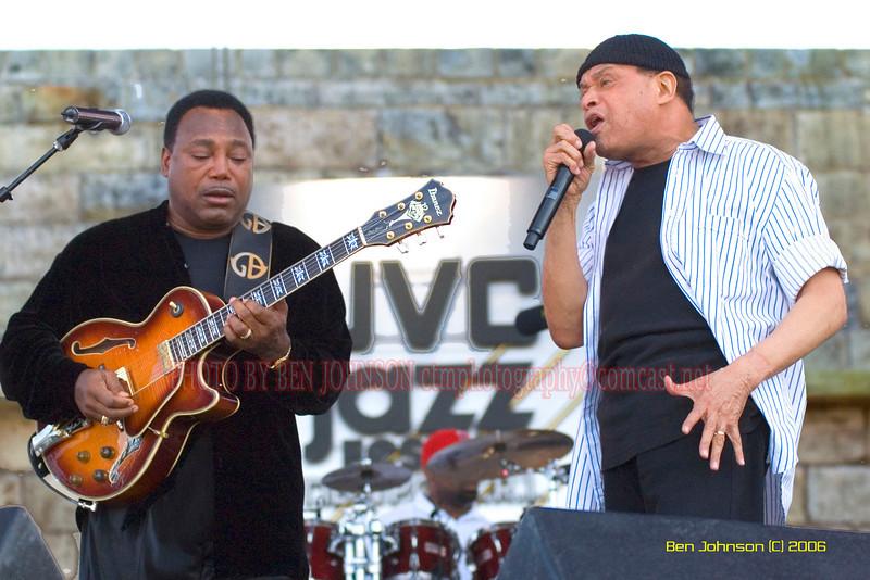 George Benson and Al Jarreau -  the 2006 JVC Newport Jazz Festival