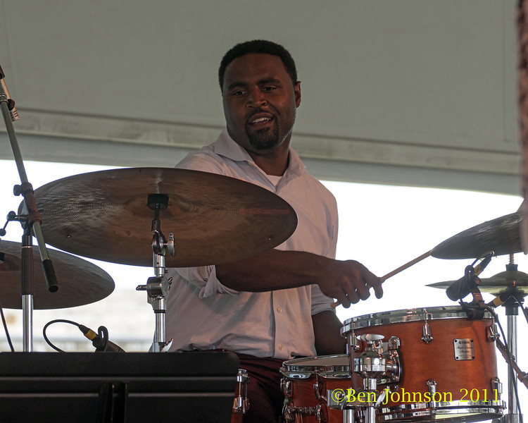 Kendrick Scott photo - The 2012 Newport Jazz Festival, August 3-7, 2012 at The Tennis Hall of Fame and Fort Adams State Park in Newport Rhode Island.