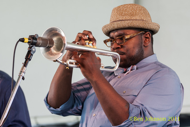 Jeremy Pelt photo - The 2012 Newport Jazz Festival, August 3-7, 2012 at The Tennis Hall of Fame and Fort Adams State Park in Newport Rhode Island.