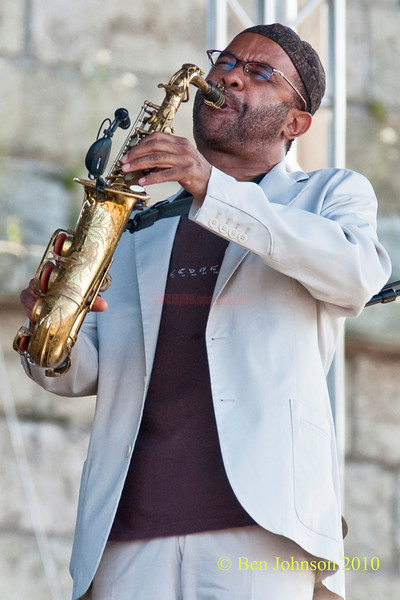 Kenny Garrett photo - performing at The 2010 Carefusion Jazz Festival in Newport, Rhode Island at Fort Adams State park. The 56th anniversary of the Jazz Festival produced by Founder George Wein