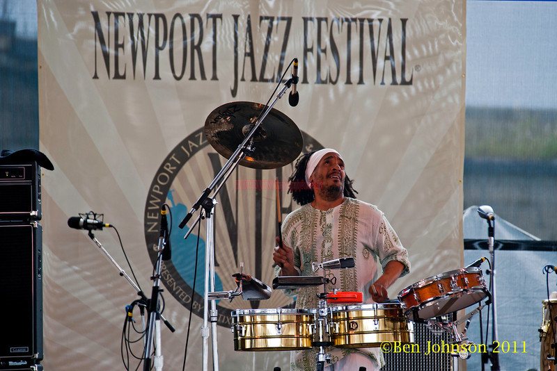 Jose Claussel performing at  the 2011 Newport Jazz Festival, August 6, 2011