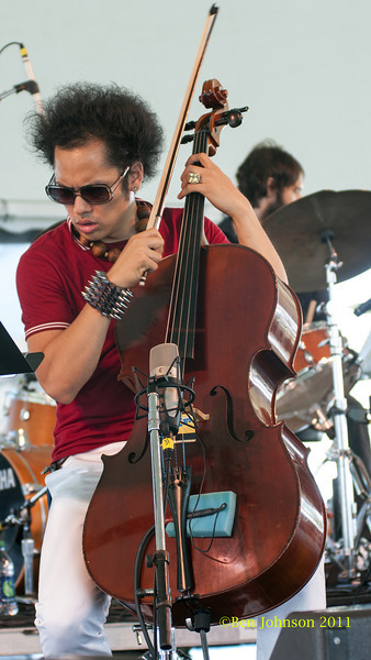 Dana Leong  photo - The 2012 Newport Jazz Festival, August 3-7, 2012 at The Tennis Hall of Fame and Fort Adams State Park in Newport Rhode Island.
