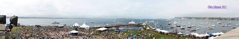 A view from the roof of Fort Adams State Park during The 2012 Newport Jazz Festival, August 5, 2012 at  in Newport Rhode Island.