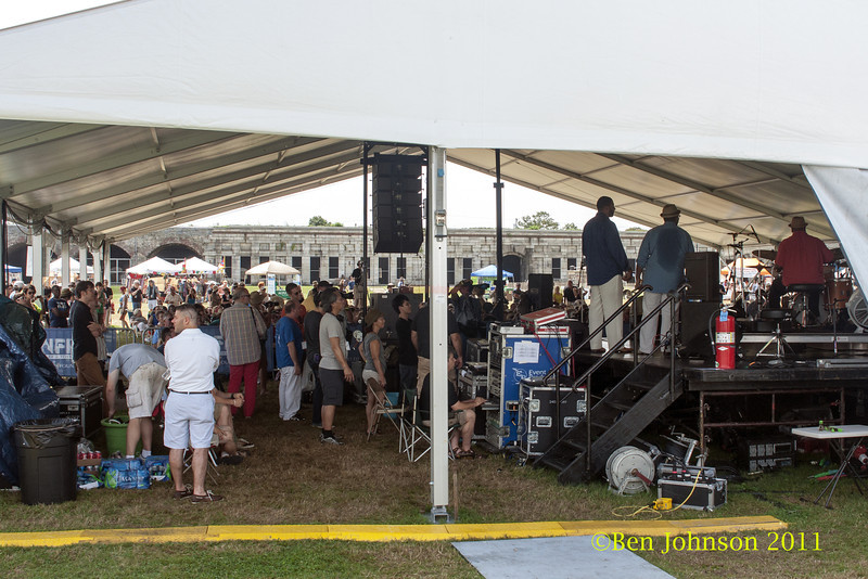 The Quad Stage at The 2012 Newport Jazz Festival, August 3-7, 2012 at The Tennis Hall of Fame and Fort Adams State Park in Newport Rhode Island.