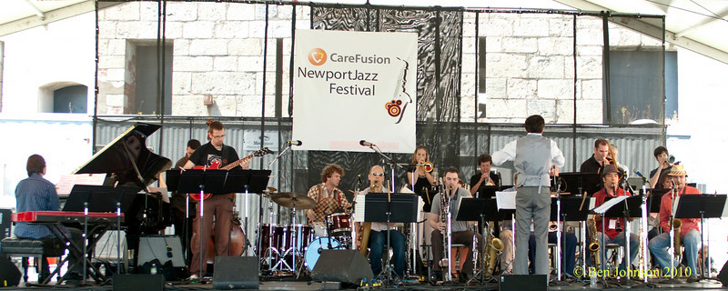 Darcy James Argue's Secret Society photo - performing at The 2010 Carefusion Jazz Festival in Newport, Rhode Island at Fort Adams State park. The 56th anniversary of the Jazz Festival produced by Founder George Wein
