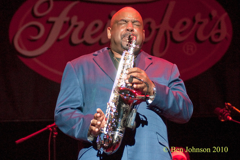 Gerald Albright photo - Performing at The 33rd ANNUAL FREIHOFER'S SARATOGA JAZZ FESTIVAL June 26 - 27, 2010, at The Saratoga Performing Arts Center in Saratoga, NY