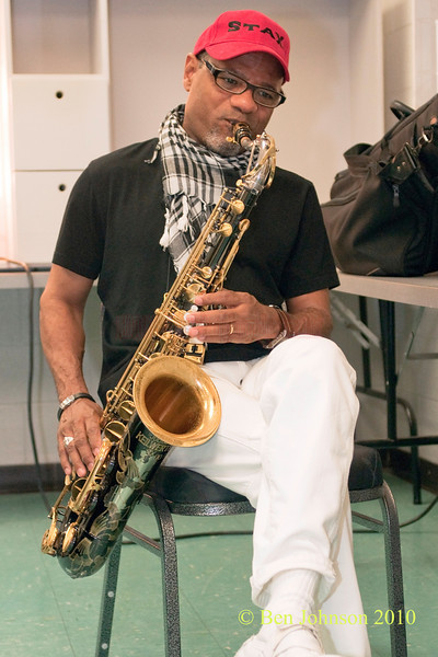 Kirk Whalum photo- backstage at The 33rd ANNUAL FREIHOFER'S SARATOGA JAZZ FESTIVAL June 26 - 27, 2010, at The Saratoga Performing Arts Center in Saratoga, NY