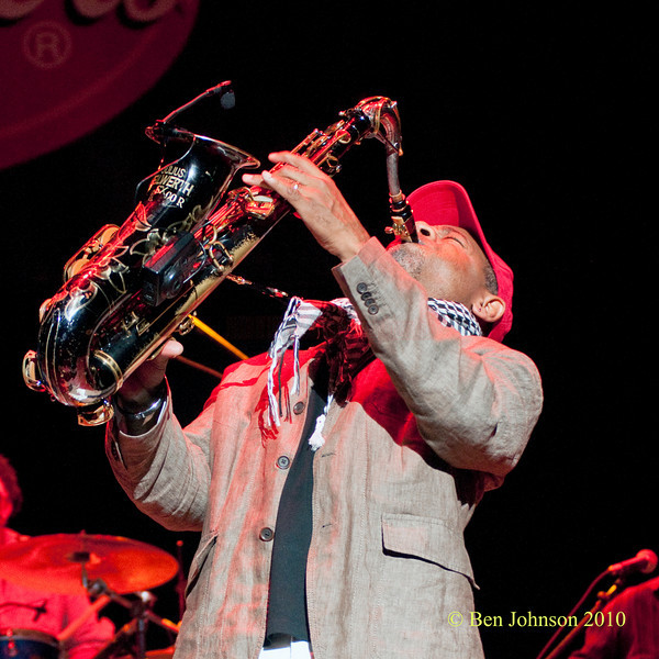 Kirk Whalum photo - Performing at The 33rd ANNUAL FREIHOFER'S SARATOGA JAZZ FESTIVAL June 26 - 27, 2010, at The Saratoga Performing Arts Center in Saratoga, NY