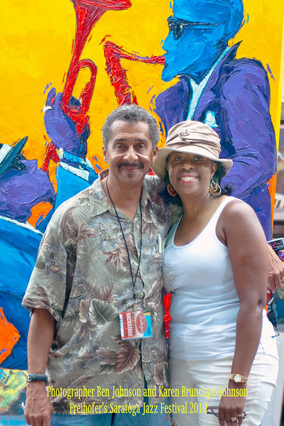 Photographer Ben Johnson and wife Karen at The 2010 Saratoga Jazz Festival