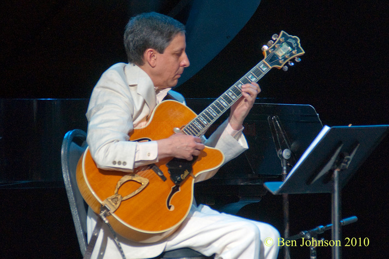 Evan Christopher guitarist photo - with the Evan Christopher Sextet performing at The 33rd ANNUAL FREIHOFER'S SARATOGA JAZZ FESTIVAL June 26 - 27, 2010, at The Saratoga Performing Arts Center in Saratoga, NY