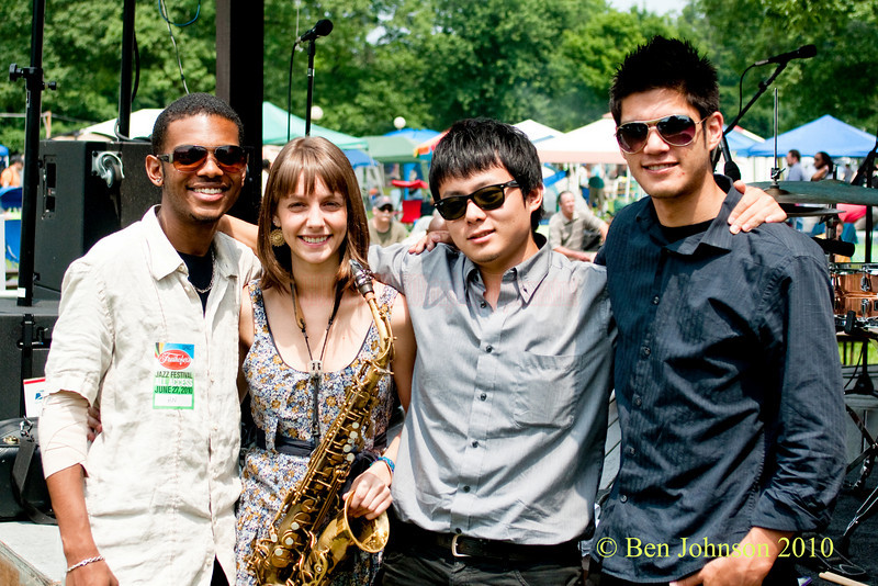 Hailey Niswanger Quartet photo - Performing at The 33rd ANNUAL FREIHOFER'S SARATOGA JAZZ FESTIVAL June 26 - 27, 2010, at The Saratoga Performing Arts Center in Saratoga, NY