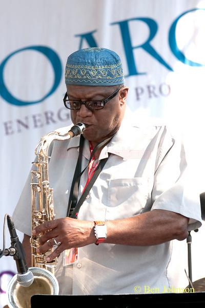 Umar Raheem photo - performing with The Freedom Jazz Orchestra at The 2010 West Oak Lane Jazz Festival