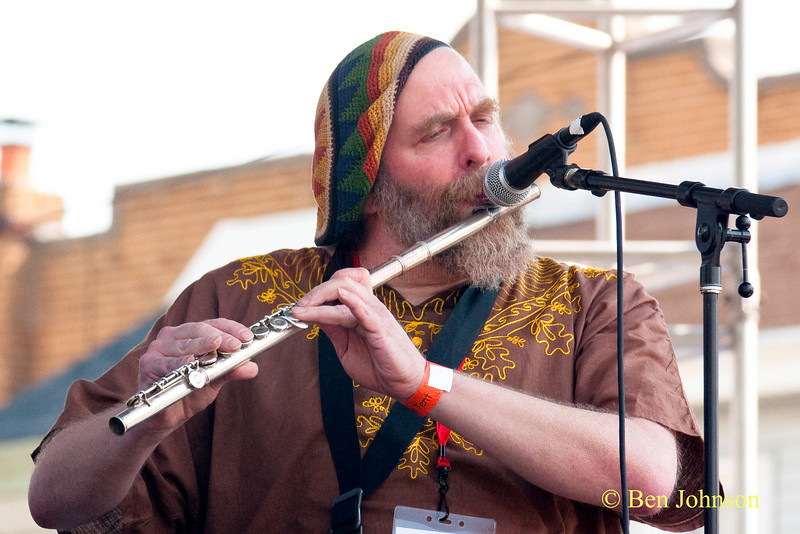 Elliott Levin photo - performing with The Freedom Jazz Orchestra at The 2010 West Oak Lane Jazz Festival