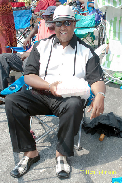 Timothy Vaughan. One of the cleanest attendees at The 2010 West Oak Lane Jazz Festival