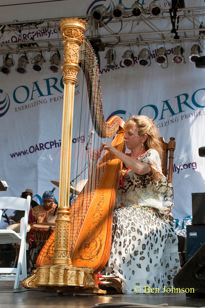 Gloria Galende photo - performing with The Freedom Jazz Orchestra at The 2010 West Oak Lane Jazz Festival