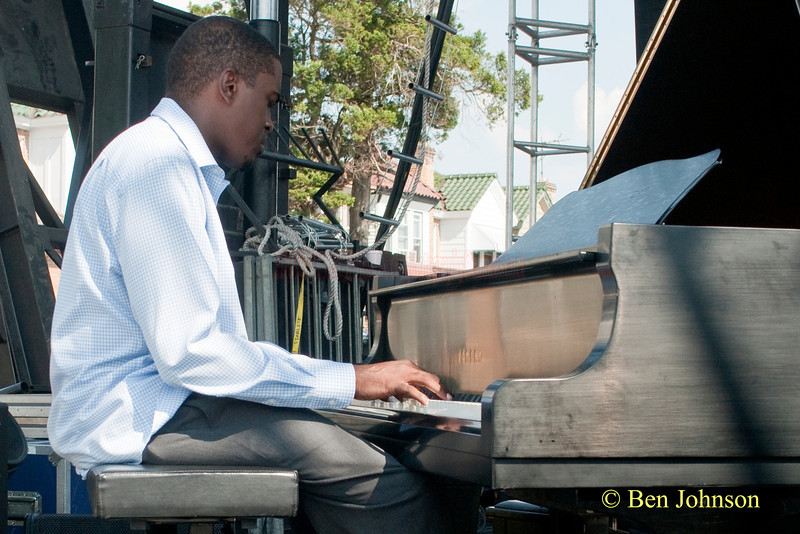 Farid Baron photo - performing with The Freedom Jazz Orchestra at The 2010 West Oak Lane Jazz Festival