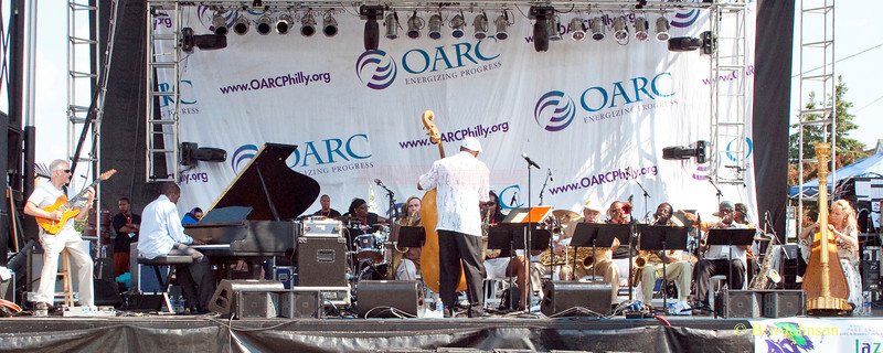 The Freedom Jazz Orchestra photo - conducted by bassist Warren Oree  performing at The 2010 West Oak Lane Jazz Festival