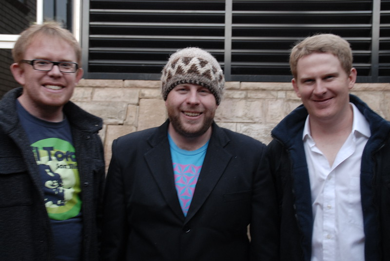 Phil Jenkins (Canberra), Damien Foley and Alex O'Neill who performed at JJL<br /> on 15 June, 2008.  Damien announced at the conclusion of the gig that this<br /> was his last performance in Wagga Wagga as he is shortly leaving Wagga!