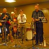Peter Brown's All Stars in action with special guest, Geoff Power, on trumpet.