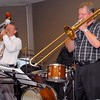 Geoff Power (trumpet) and David Saxon (trombone) are really giving it their all!