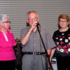 L to R: Judy Stubbs, Patricia Ceely, George Ceely and Jean Haste say a few words to mark the final Jazz Junction Live