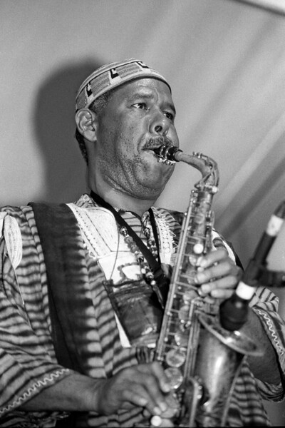 Earl Turbington performs at the 1993 New Orleans Jazz & Heritage Festival.
