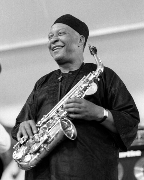 Frank Morgan performs with the Kenny Barron Trio at the New Orleans Jazz & Heritage Festival on May 5, 1996.