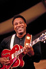 George Benson performs at the New Orleans Jazz & Heritage Festival on April 26, 1996.
