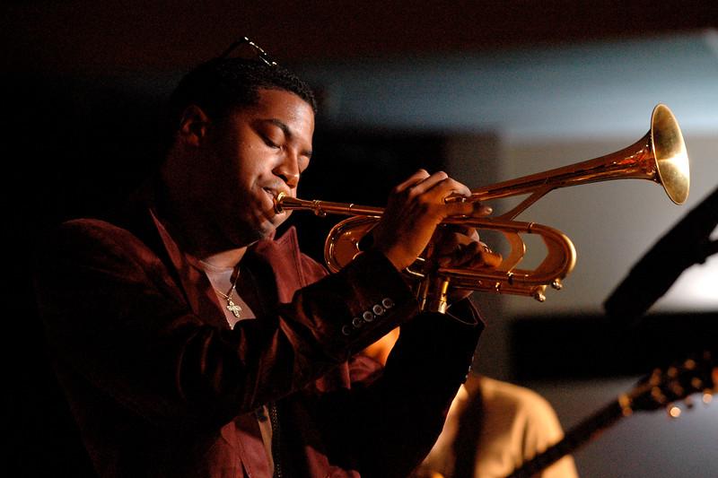 Christian Scott performs at the Monterey Jazz Festival on September 22, 2007.
