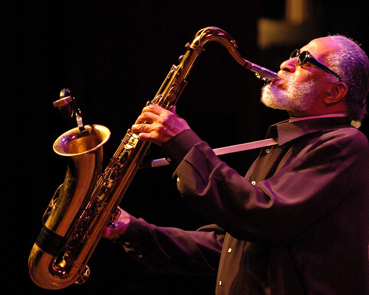 Sonny Rollins performs at the Monterey Jazz Festival on 9-16-05.