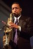Donald Harrison performs at the New Orleans Jazz & Heritage Festival on April 30, 1999.