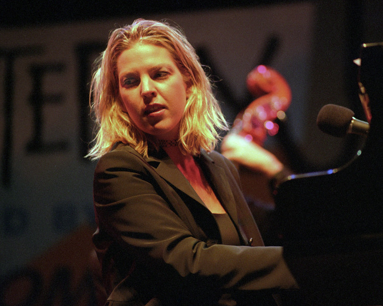 Diana Krall performs at the Monterey Jazz Festival on September 18, 1999.